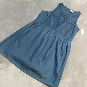 NWT Old Navy women's size L denim sleeveless dress